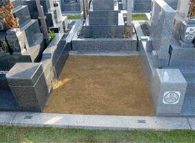 ④新規墓石の施工開始
