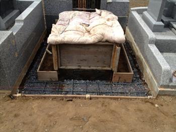 納骨棺の施工