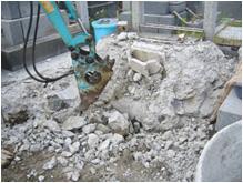 1、お墓の解体・撤去、墓地を更地にする工事費用